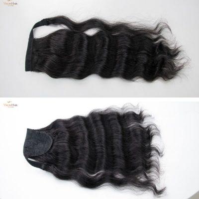 Natural wavy ponytail wig - Vietnamese raw hair - Full cuticle aligned