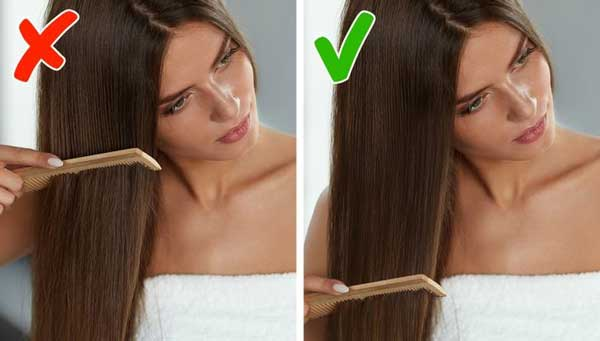 ways to take care using the comb properly
