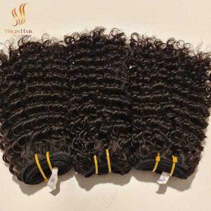 single drawn curly human hair - Vietnam raw hair - cuticle aligned virgin hair