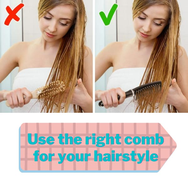 Use the right comb for your hair styles