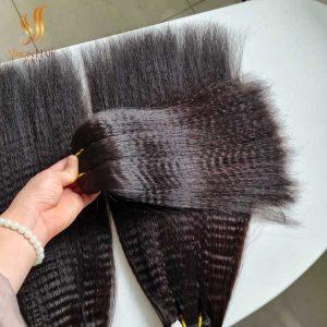 kinky straight hair - human hair extensions - cuticle aligned hair