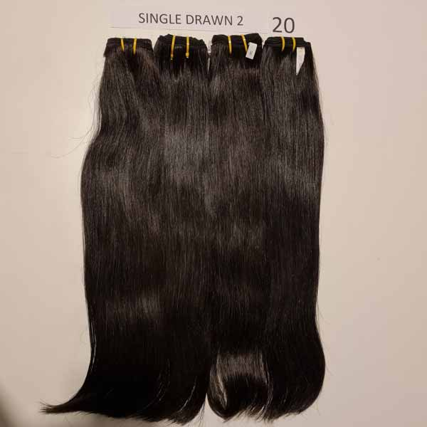 Single Drawn Straight Hair 18 inch