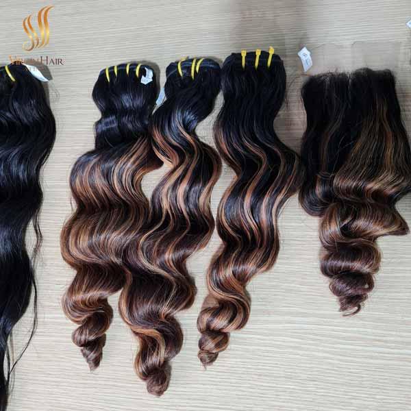 vietnamese hair loose wave - vietnam hair - cuticle aligned hair