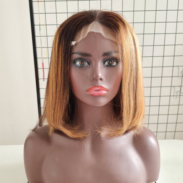 Bone Straight Wig_Piano Color_ Human Hair Extension