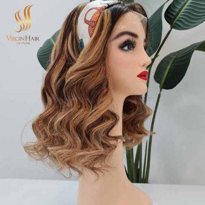 Bouncy Hair _Piano Color _ Human Hair Wigs
