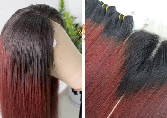 Wig-Bone-Straight-Ombre-Color---Virgin-Human-Hair