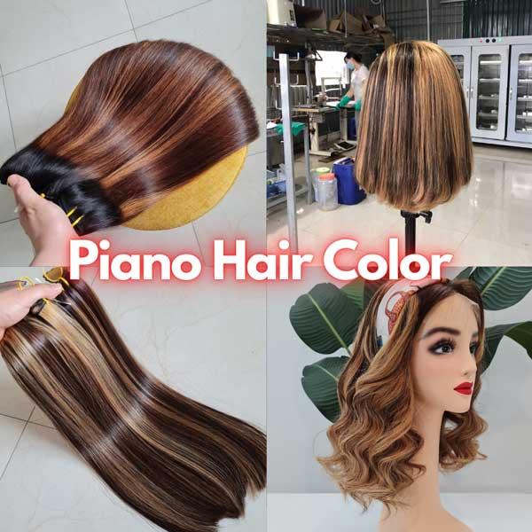 piano hair color - human hair extensions - vietnamese hair
