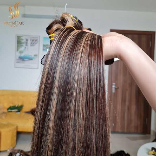 piano color bone straight hair - vietnamese hair vendors - human hair extensions